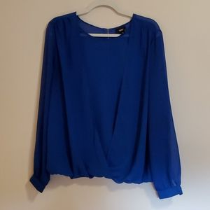 Mossimo sheer blue blouse size large